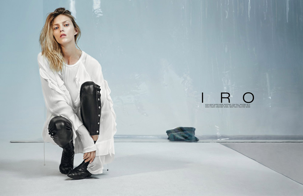 Iro  Iro, a Paris based fashion brand. French chic meets New York street style. Founded by brothers Laurent & Arik Bitton in 2005. With a background in the music industry, Laurent & Arik decided to channel their love for music into a different medium: fashion. they decided to create a clothing line that had a distinct vintage feel, while at the same time mirrored a nonchalant, easy chic style. By combining great craftsmanship, attention to detail, & the finest materials.