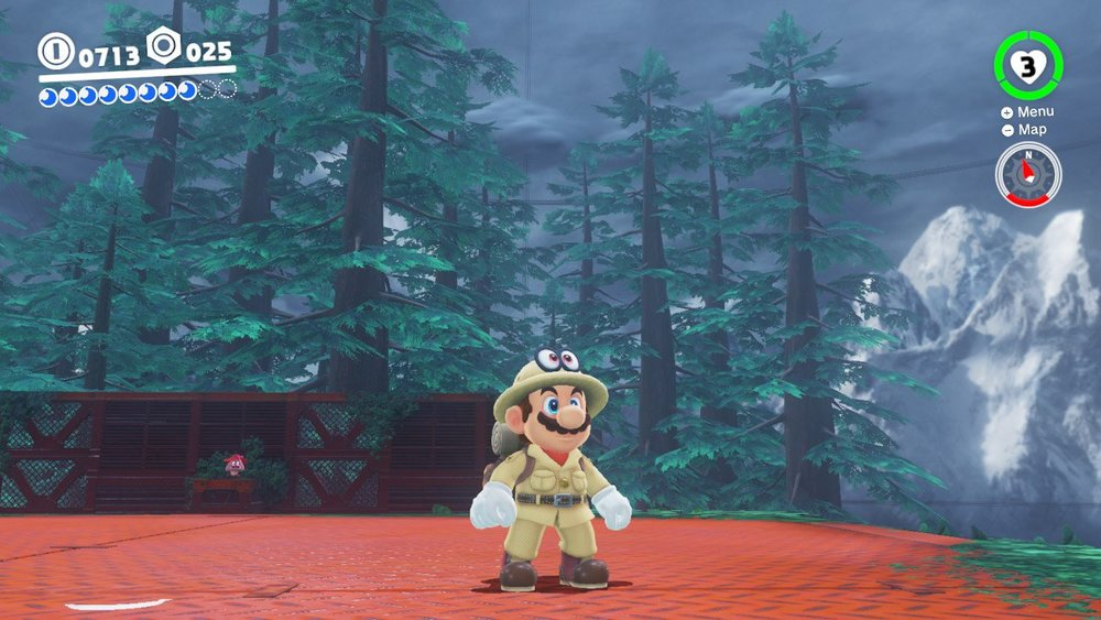 Mario in the Wooded Kingdom - Super Mario Odyssey