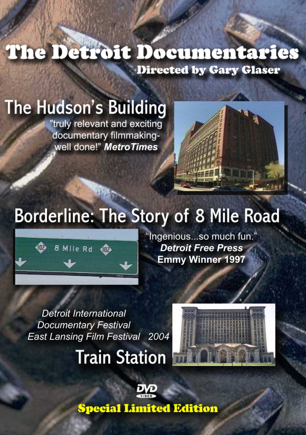 - includes: The Hudson's Building, Borderline: The Story of 8 Mile Road,Train Station: Michigan Central Train Depot