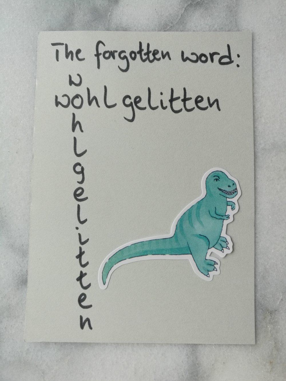 wohlgelitten well-liked vocabulary dinosaur language Sprache Wortschatz Dinosaurier