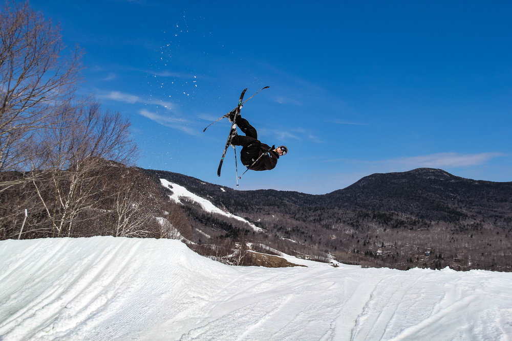 Letting 'er buck at Stowe, VT in 2014
