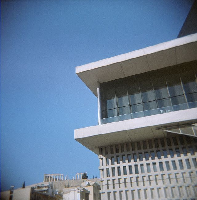 April sun in Athina! . . #Athens #Greece #Europe #spring #sun #sky #architecture #film #6x6 #120film #holga #onlyfilm #design #acropolis #museum #history #travel #love #fun #lifo #ig_greece #in_athens #athensvoice #thisisathens