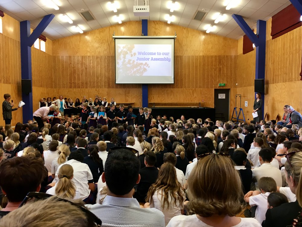 JUNIOR ASSEMBLY IN THE HALL