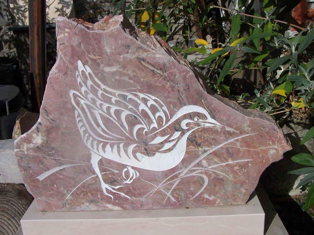 Corncrake - Stoneycombe limestone - Angela Holmes -  £500.JPG