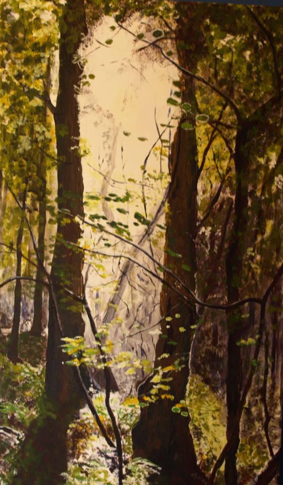 SUN THROUGH TREES. JANE RIPLEY TAAG OPEN.JPG