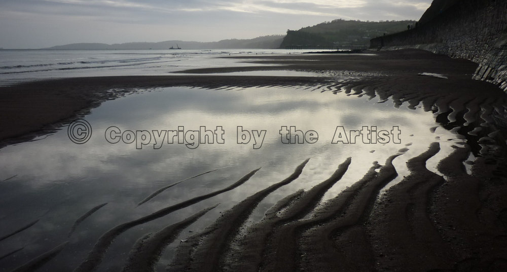 Teignmouth Beach at Twilight