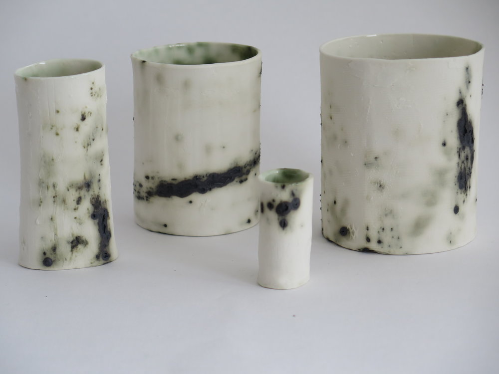 Porcelain and Copper Oxide vessels