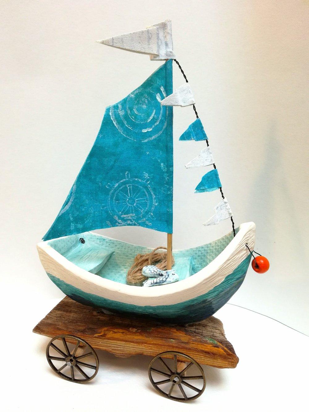 Trawler on Driftwood by Gail Trezise Multimedia Art Show.jpg