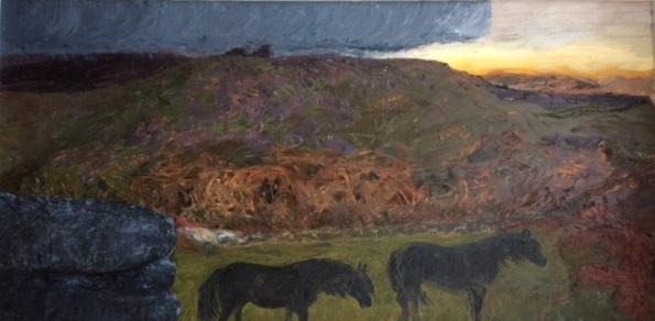 Dartmoor landscape storm arriving