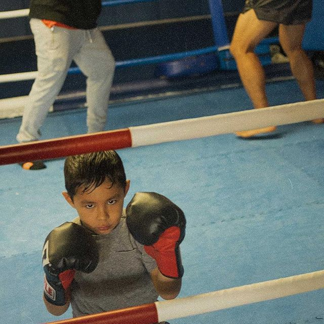 ❤️yung gio waiting patiently while his dad and brother spar in the ring