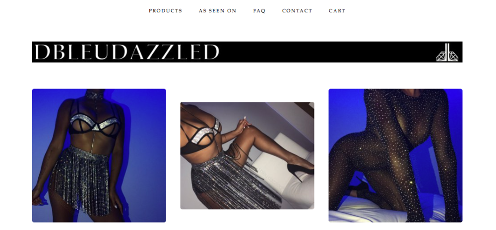 "DBLEAUDAZZLED   Custom made ""crystallized lingerie, hosiery, and performance wear"""