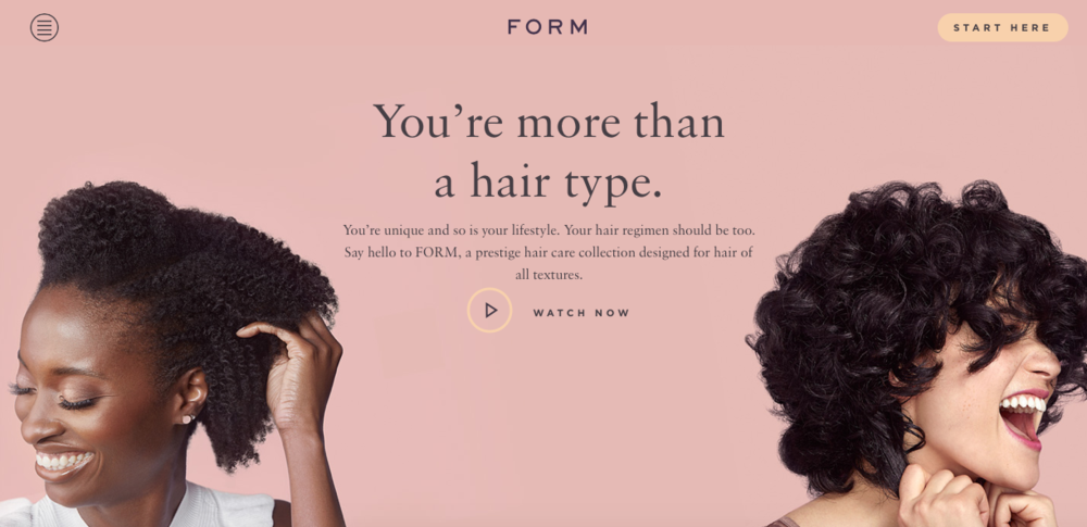 Form    Hair products designed for different hair types