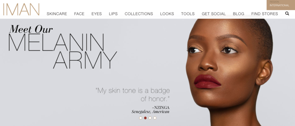 IMAN Cosmetics   Makeup brand founded by supermodel Iman.