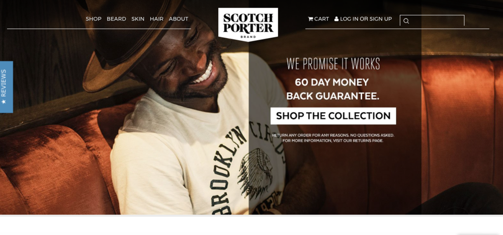 Scotch Porter    Hair, beard, skin care product company