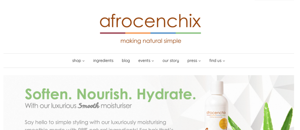 Afrocenchix   Nautral hair product brand