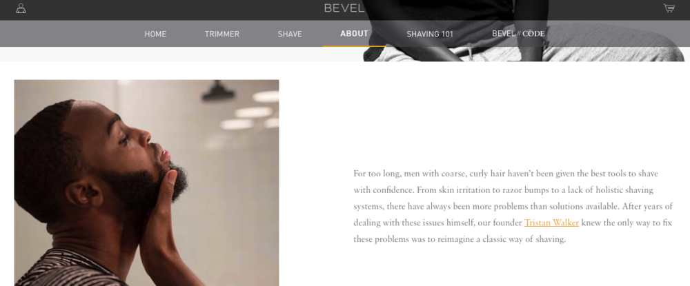Bevel    Shaving system specially designed for people with curly hair