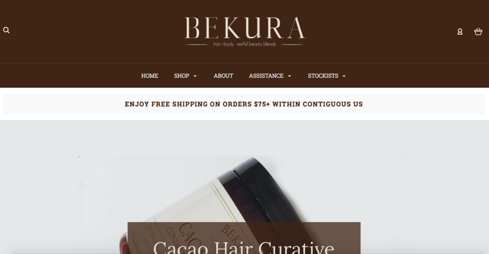 Bekura Beauty    Natural spa products for hair and body