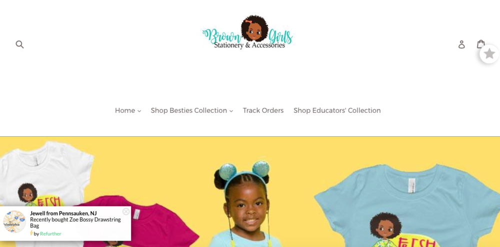 Black Girls Stationary & Accessories    A brand that sells stationary and accessories where Black girls are centered