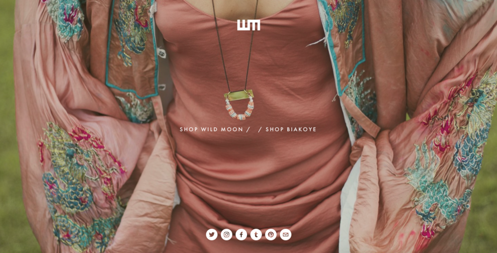Wild Moon Jewelry    Eco-conscious Toronto based jewelry brand that uses recycled material for their pieces