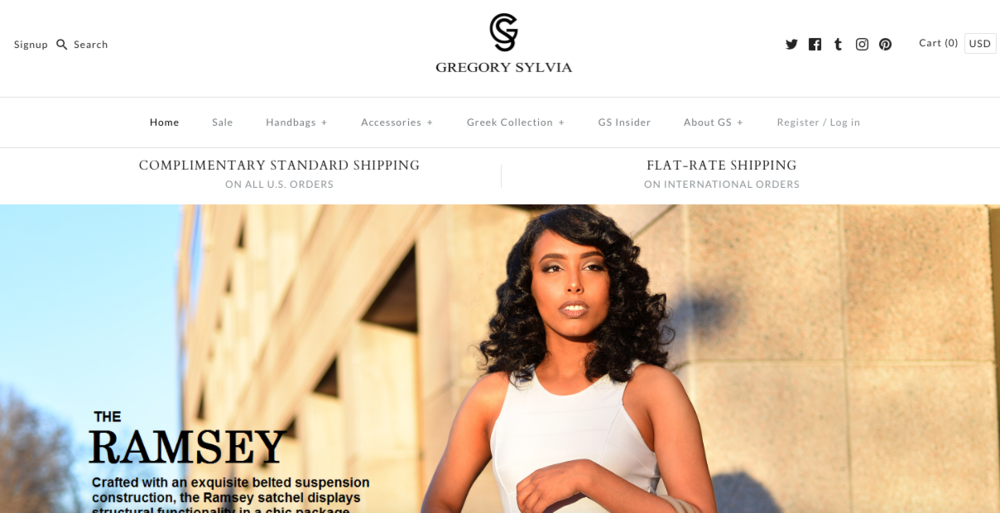 Gregory Sylvia    A luxury handbag brand