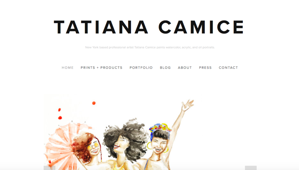 Tatiana Camice   Tatiana is a New York based artist that paints watercolor, acrylic, and oil portraits