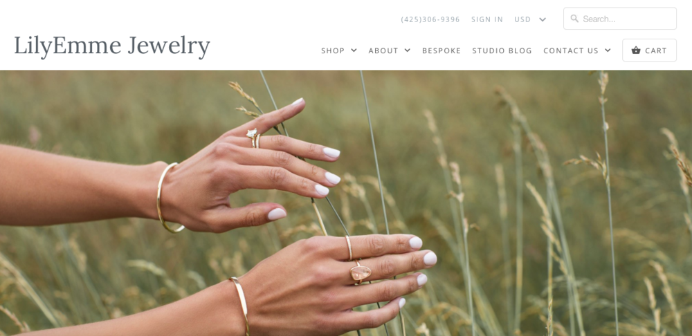 LilyEmme Jewerly    A handmade and environmentally  conscious jewelry brand based in Seattle, WA