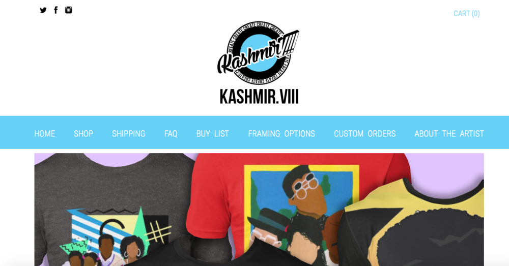 Kashmir.VIII   Pop culture themed products designed by the visual artist, Kashmir Thompson