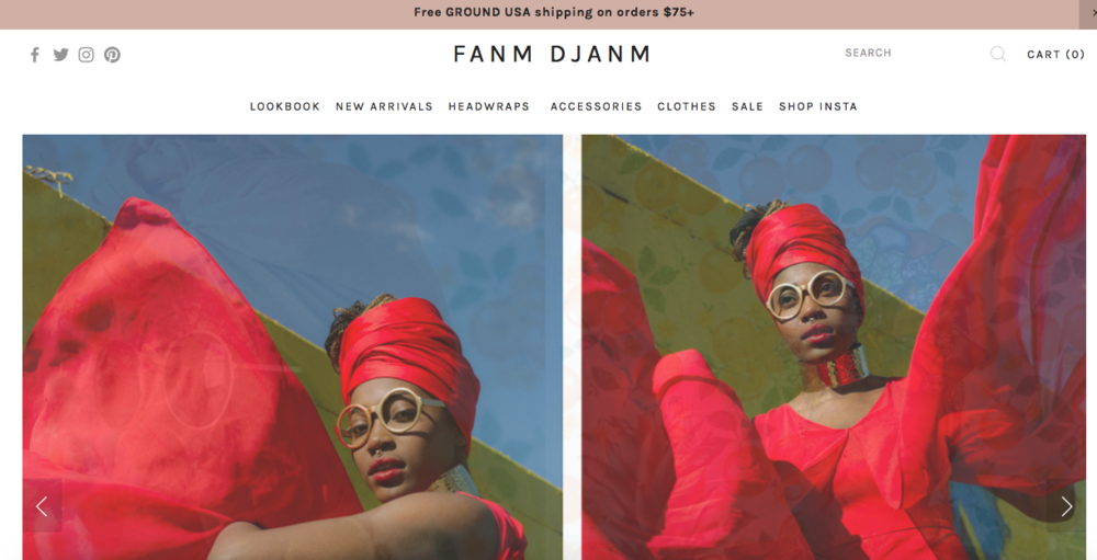 "Fanm Djanm   ""Head wrap collection and lifestyle brand"""