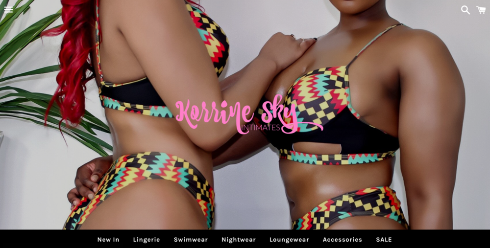 "Korrine Sky Intimates    A ""lingerie boutique catering to women of all sizes, shapes and budgets"""