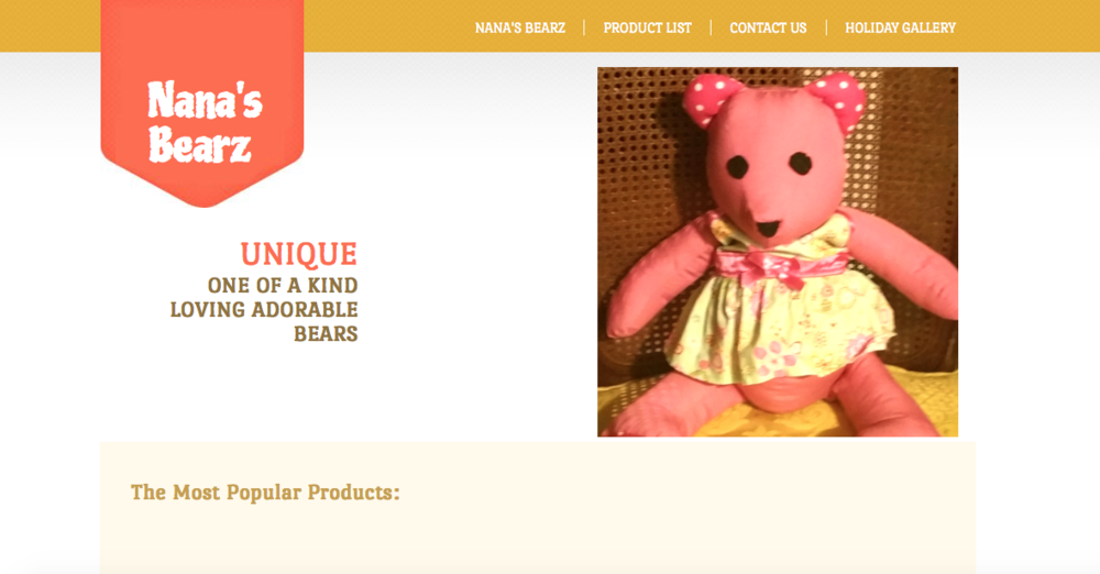 Nana's Bearz   Stuffed bears that have unique design