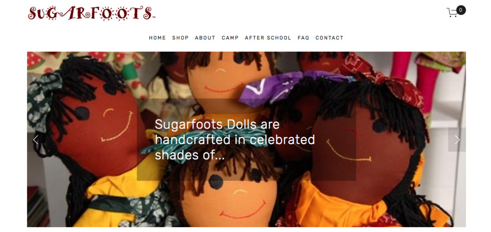 "Sugarfoots   ""hand-crafted multi-ethnic rag dolls"" that are sold in conjunction with a children book series"