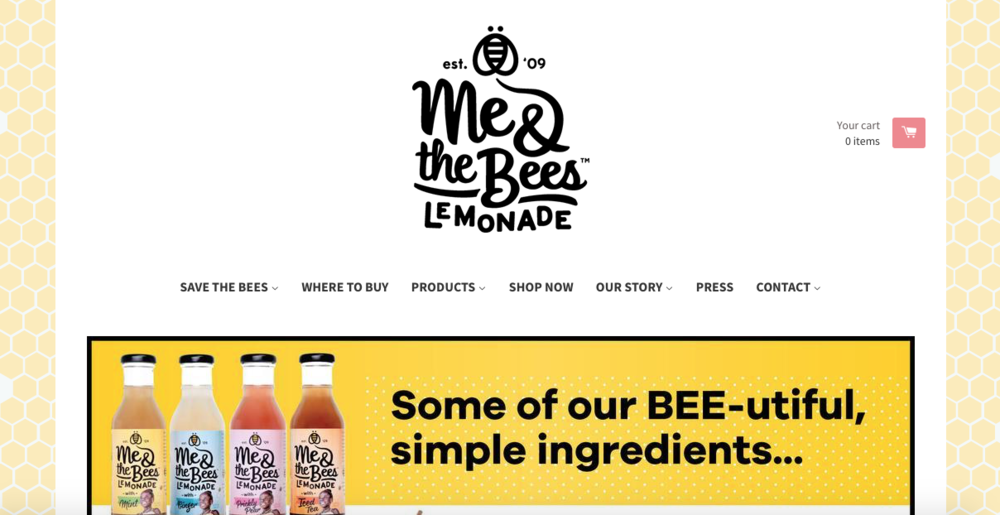 Me & the Bees Lemonade   A lemonade family-owned brand based in Texas