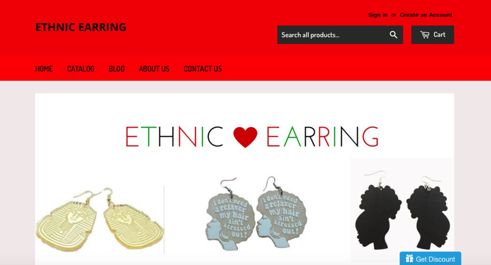 Ethnic E  arrings   Afrocentric accessories store