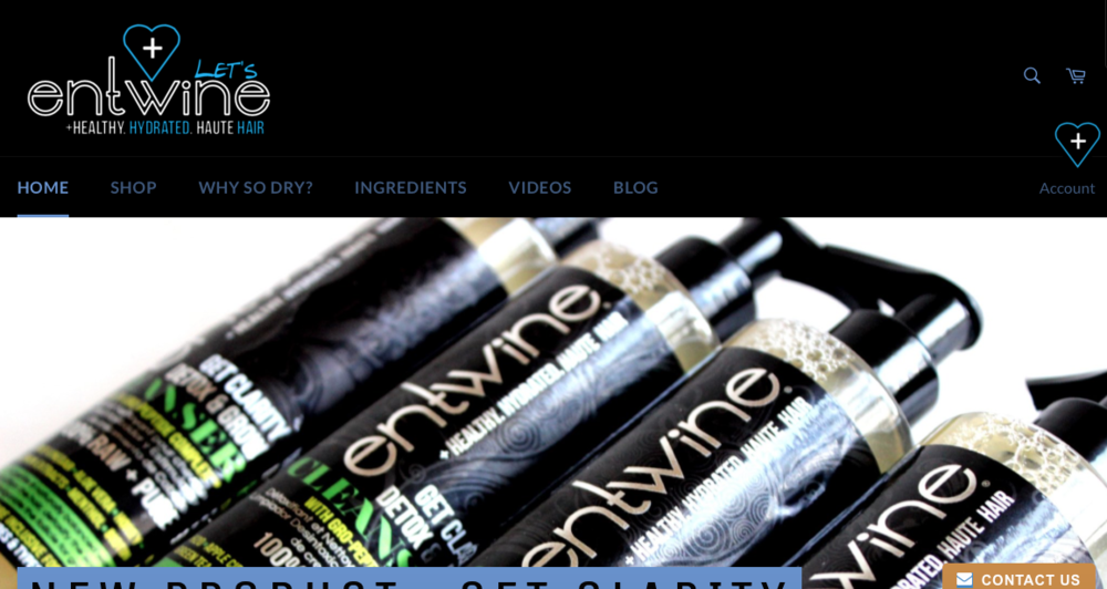 "Entwine   A brand that sells ""texture inclusive hair care and multi-ethnic beauty products"""