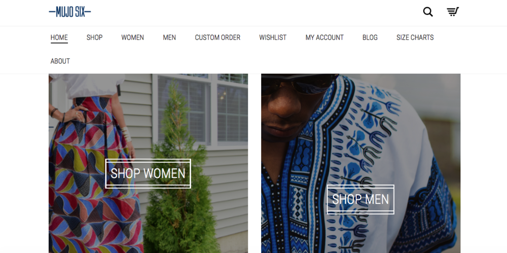 Mujo Six   An online store that sells African inspired fashion