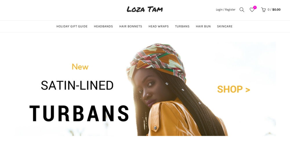 Loza Tam   Satin lined hair bonnets, head wraps, and head bands