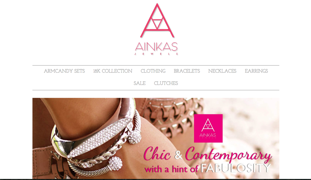 "Ainkas Jewels  Jewelry brand that sells contemporary jewelry for ""evolving modern women"""