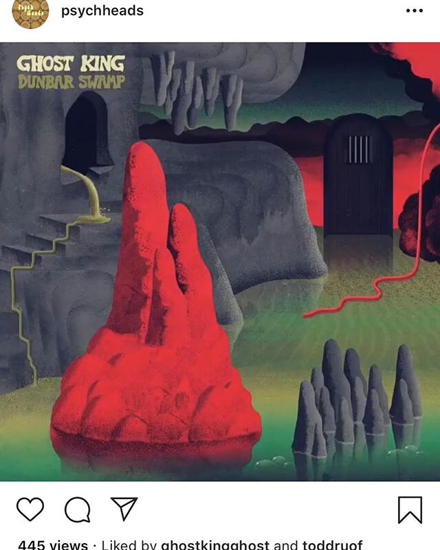 Shout-out to @psychheads for the @ghostkingghost - Dunbar Swamp feature! Awesome seeing our album among so many psych greats! 🍄