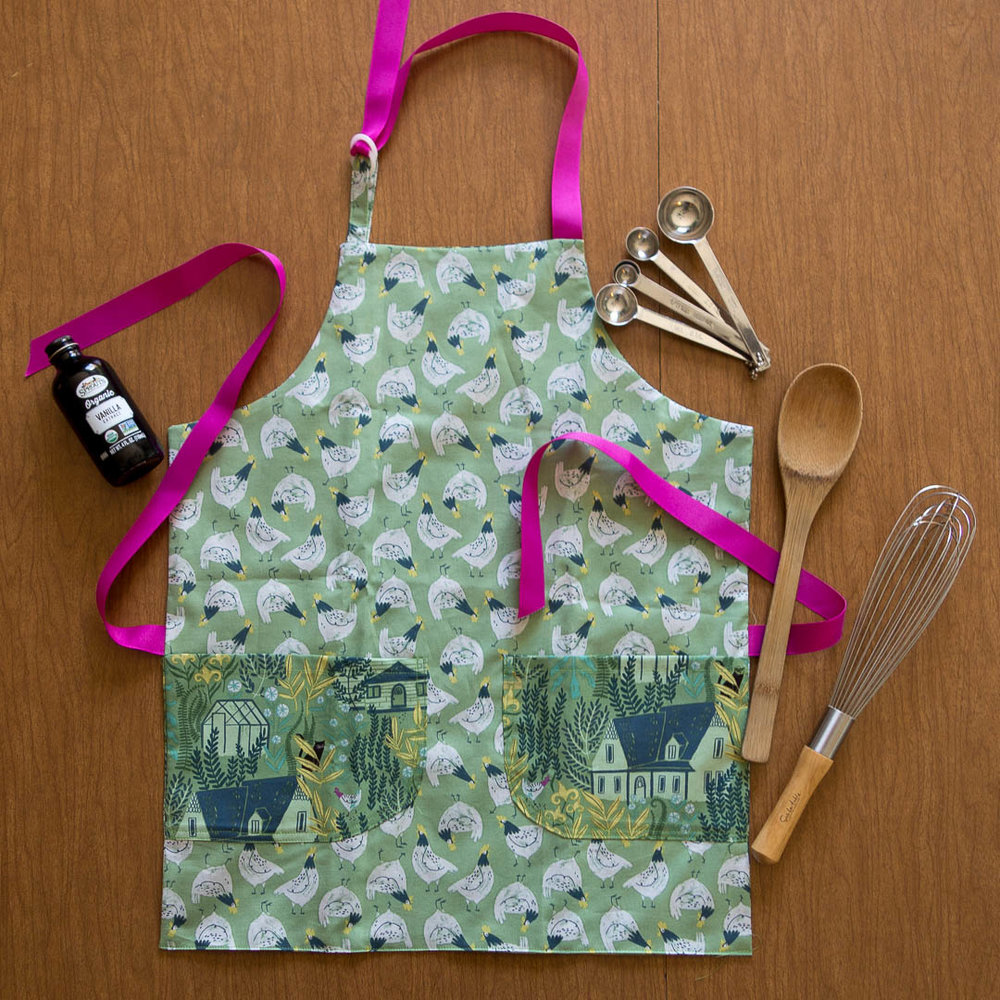 Child aprons fit a large range of sizes -