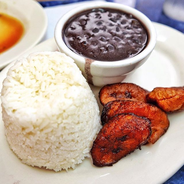 #MiamiStaples  You just gotta keep it real down here in #Miami  Stick with #Caribbean and #SouthAmerican food  Here is the holy trinity of #Rice, #Beans and #Plantains  Which I had with a simple Pollo Asado and I did cartwheels the whole way through it  #PerfectMeal #LessThan20Bucks #PuertoSagua