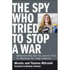 Book cover featuring Katharine Gun, whistleblower.