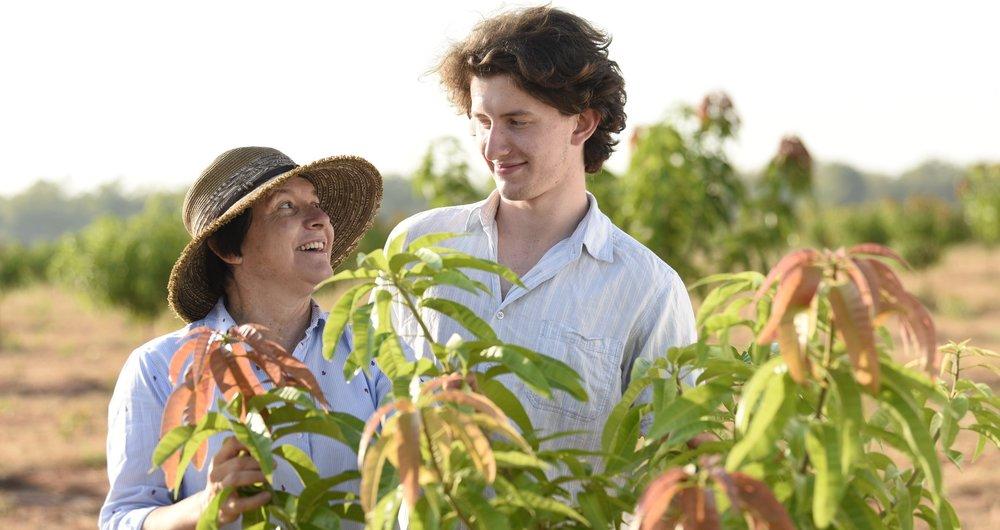 Marie and son Tarn_Katherine_New plantings.JPG