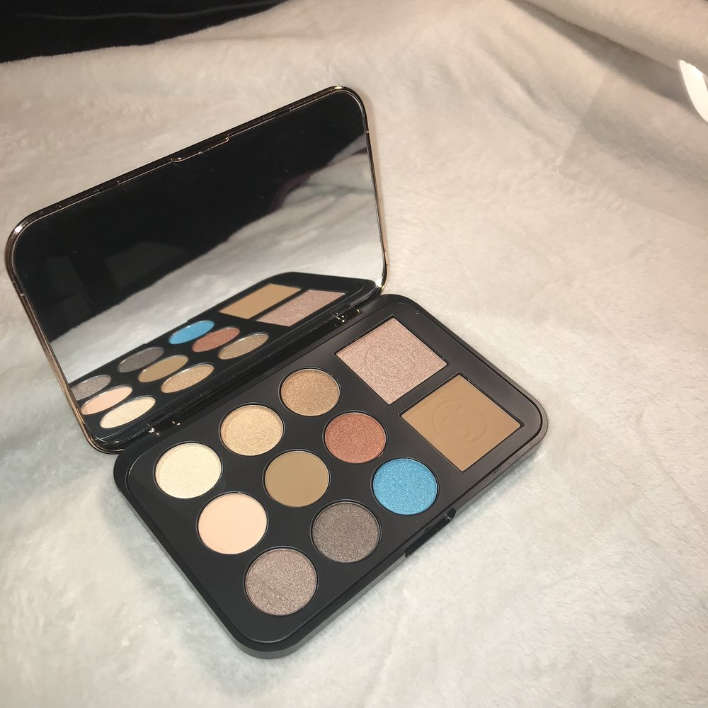 BRONZE PARADISE - EYESHADOW, BRONZER & HIGHLIGHTER PALETTE - First of all, If you spent over $25, you'd receive a free gift, this was my gift. I used this palette in the pictures below. reg.15.99