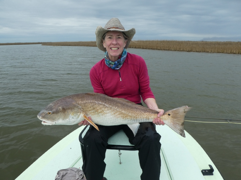 Ann with her third big fish of the day.