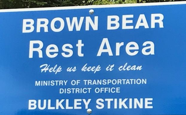 Signage just outside Smithers. Is it the name of a rest area, or a place for bears to rest?