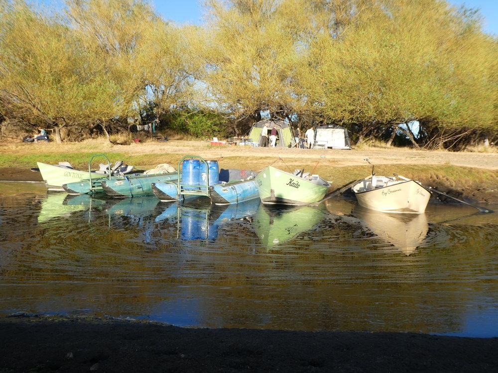 Camp on the Rio Collon Cura.