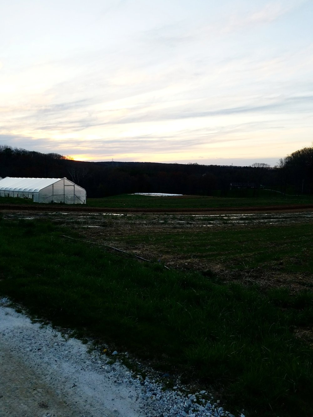 And a sunset rounds out a day at the farm