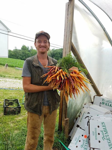 Bryan loves rainbow carrots!