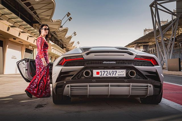 "Overdressed for work? Maybe.  This is @Lamborghini's ""everyday"" car, the 2020 Huracan Evo. I drove it on the Bahrain International Circuit on Monday, but I guess I'd also drive it every day. 📷 . . . . #bahrain #track #racetrack #f1 #supercar #exotic #luxury #travel #car #cars #supercars #exotic #ferrari #lamborghini #bugatti #huracan #carsofinstagram #carporn #fastcar #dreamcar #exoticcars #cargram #caroftheday #drivetribe #carswithoutlimits #HuracanEVO #evo #mclaren #aventador #urus"