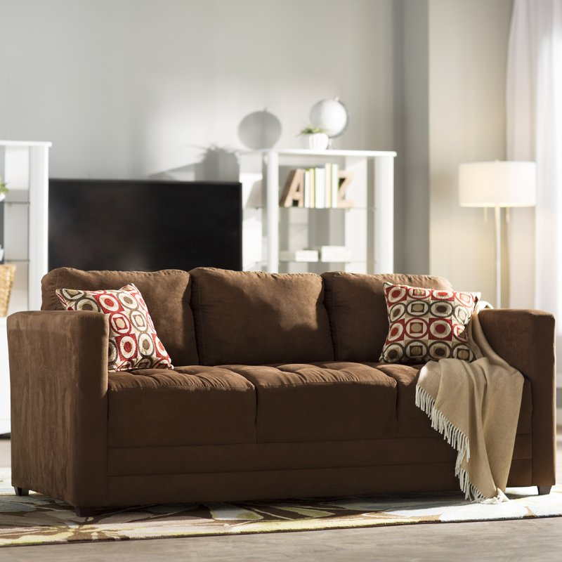 Chocolate Microsuede Williamson Sofa